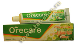 Зубная паста Orecare с целебными травами